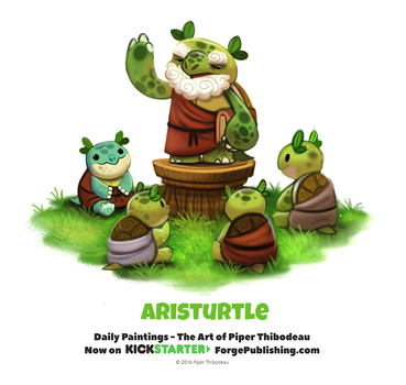 Daily 1369. Aristurtle by Cryptid-Creations