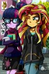 MLP EQG: Twilight and Sunset Shimmer by DarkMirrorEmo23
