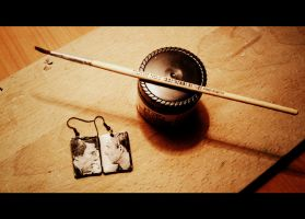 Johnlock earrings) by Keyre