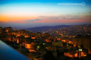 Nablus Sunset by Muhanned