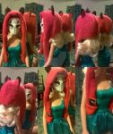 1/6 Scale Kitsune Hood - Red. by Nakumah