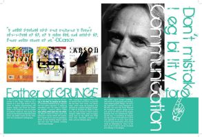 David Carson Magazine Layout by x0belladonna6x