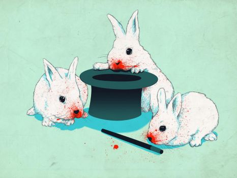Dont trust in cute bunnies by mathiole