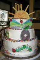 Hungry Caterpillar Cake - view 2 by Jennfrog