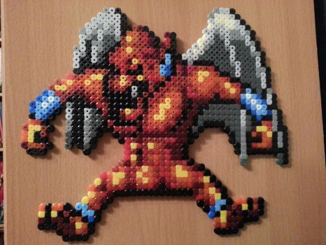 Red Arremer from Super Ghouls'n Ghosts hama beads by masquedemort