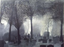 'Barwell Cemetery On A Misted May Morning' by johnsingerartist