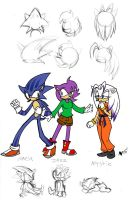 Sonic and Amy's Kids by anniemae04