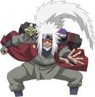 Jiraiya Sennin Mode 2nd Render by xUzumaki