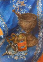 Still life with turpentine oil by Victoria-Poloniae