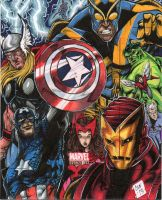 Marvel Bronze Age Avengers AP by Chris Foreman by chris-foreman
