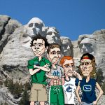 Canucks in the Summer - Detail 4 - Mt. Canuckmore by Bleezer