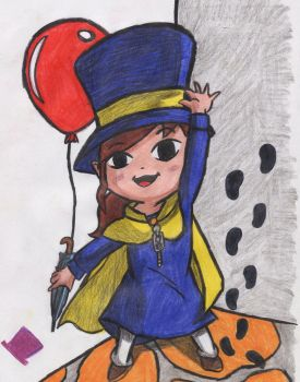 A Hat in Time - Hat Kid by MadHatter-Himself