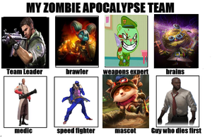 With the apocalypse my zombie team by Lockjawfan2020