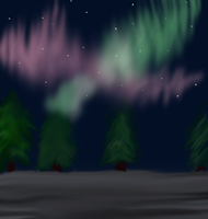 Northern lights by xDeadpuffx