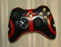 Deadpool Xbox 360 Controller by matherite