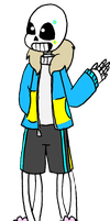 [CorruptionFile.UT] Sans [AU Reference] by RicePoison