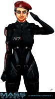 Mass Effect: Commander Shepard by Diamond4444