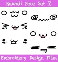 Kawaii Face Set #2 [EMBROIDERY FILES] by TheHarley
