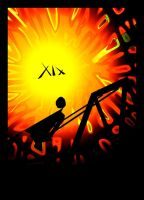 Sun XIX Tarot Card by ranbassi