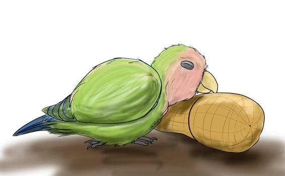 Peanut's Peanut Pillow by RedFeatherEagle