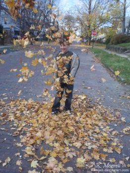 Hunter and Some Leafs by Kassieh