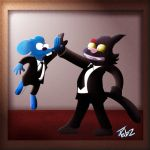 Itchy and Scratchy Reservoir Dogs fan art by Pabzzz