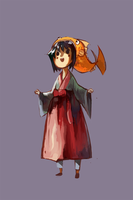 Ester with a fish hat by ashwara