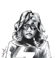 Kamala Khan sketch by JohnYandall