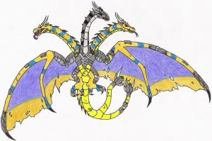 Code Red: Mecha King Ghidorah by DinoHunter2