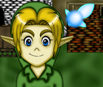 Ocarina Of Time Child Link In Kakariko Village by ZeldaGirl88