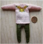 1:12th scale Floral jumper and leggings by buttercupminiatures