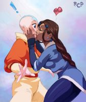 $10-Katara and Aang by Robaato