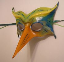 Exotic Bird - Leather Mask by teonova