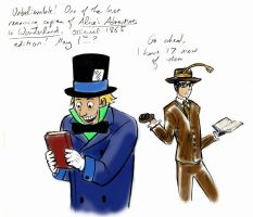 Two hatted nerds by thenumber42
