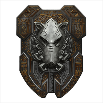 Dwarf-boar-shield-21 by cyderak