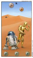 Star Wars Tarot: The Five of Credits by theory-of-everything