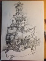 Pirate Traditional Tattoo Design No#1 : The sail ! by Shogun-Art-n-Design