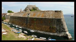 The Old Fortress Dominates The Town Of Corfu by skarzynscy