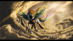 Rainbow horse goes steampunk by Col762nel