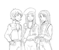 Kamille, Chris, Loran by phiz4420
