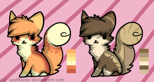 Cutie Kitty Adoptables - {2/2 SOLD} by WolfTwine