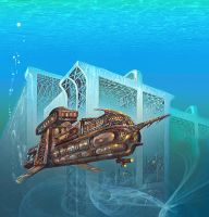 Steampunk undersea by taisteng