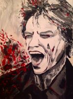 Mick Jagger Portrait reworked by Delias-arts