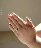 Male Hands Praying 001 by Christian-Stock