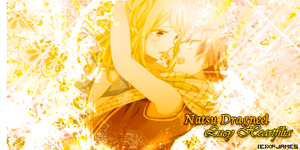 Natsu Dragneel and Lucy Heartfilia v1 by JamesxpGFX