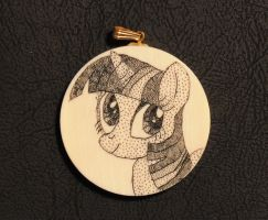 Twilight Sparkle scrimshaw on ivory by archiveit1