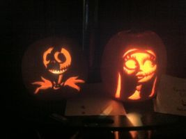Halloween 2012 Pumpkins by ailur0phile