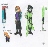 KHKBW_Kim and Shego by DNLnamek01