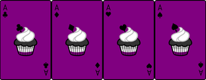 Ace Deck 72: Cupcake+Purple+Black by Galadnilien