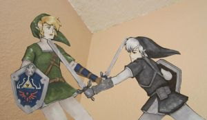 Link vs. Dark Link by zenturtle651692